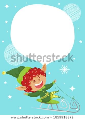 окончательный зима продажи эльф праздник скидка Сток-фото © robuart