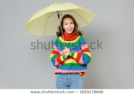 女性 · 虹 · 傘 · セクシー · ブロンド · 孤立した - ストックフォト © petrmalyshev