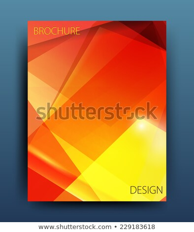 professional red annual report brochure template design Stock photo © SArts