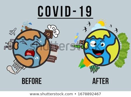 Coronavirus impact on planet. Pandemic virus and earth. Global e Stock photo © popaukropa
