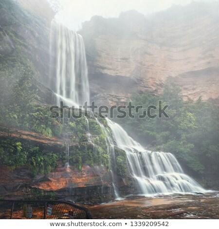 мощный водопада песчаник дождь движения Сток-фото © lovleah