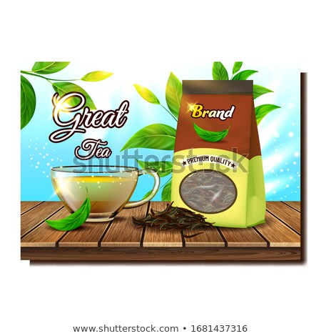 Great Tea Creative Promo Advertising Poster Vector Stock photo © pikepicture