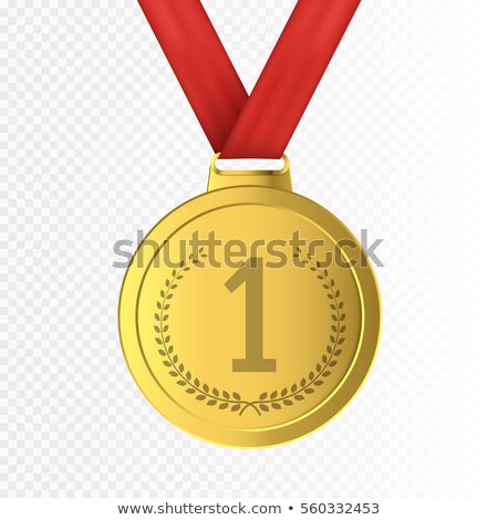 First Place Sign in Golden Wreath Vector Image Stock photo © robuart