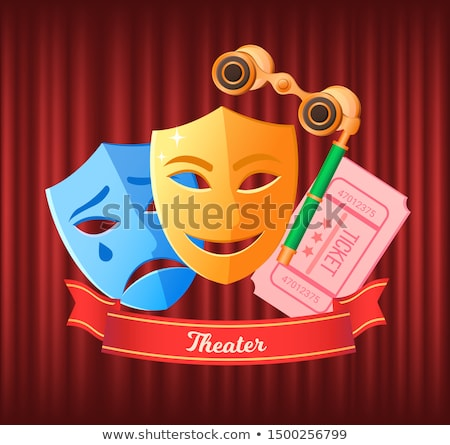 Theater Tickets with Date and Seats, Binoculars Stock photo © robuart