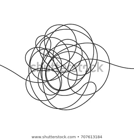 手描き スレッド 開始 抽象的な 子 ストックフォト © SArts