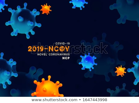 novel coronavirus outbreak background with virus cell  Stock photo © SArts