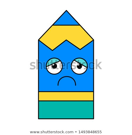 депрессия карандашом наклейку Cartoon иллюстрация меланхолия Сток-фото © barsrsind