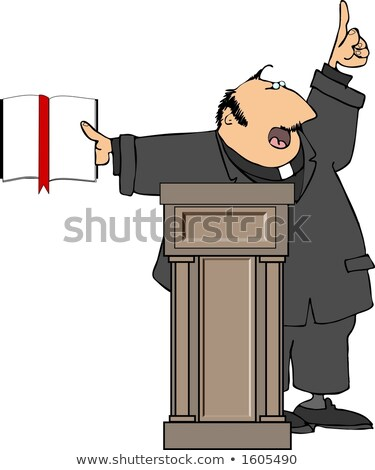 Cartoon Priest at the Pulpit Stock photo © Voysla