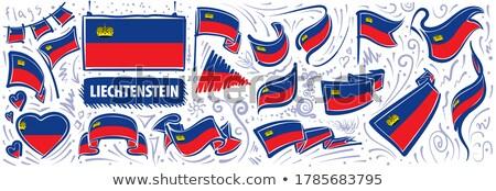 Vector set of the national flag of Liechtenstein in various creative designs Stock photo © butenkow