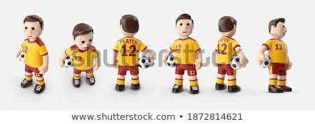 mascot playing football stock photo © pkdinkar