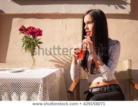 Esbelto jóvenes morena retrato aislado Foto stock © lithian