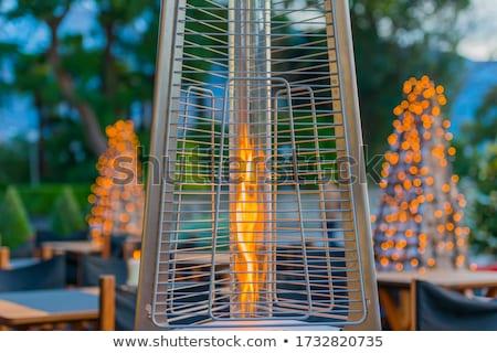 Ao ar livre aquecedor elétrico céu restaurante nuvem Foto stock © dutourdumonde