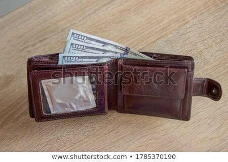 Zwarte portemonnee familie geld gezondheid Stockfoto © vichie81