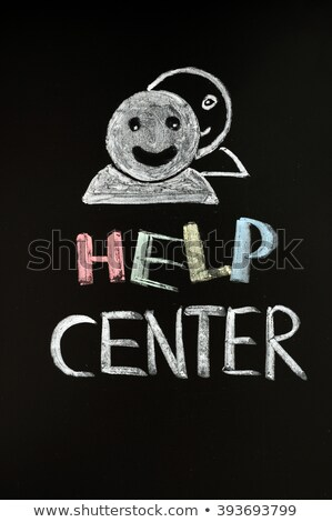 helpen · centrum · menselijke · Blackboard · krijt - stockfoto © bbbar