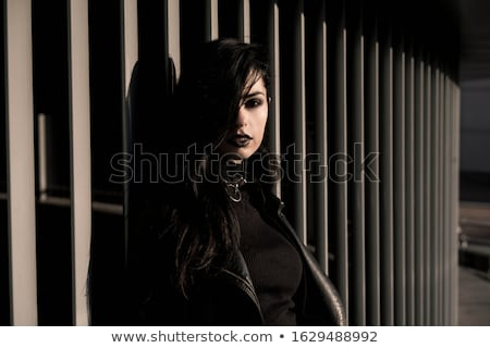 Gothic woman. Emo or goth young woman  Stock photo © dacasdo