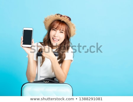 Asian vrouw vakantie zonnebril tropisch strand Stockfoto © smithore