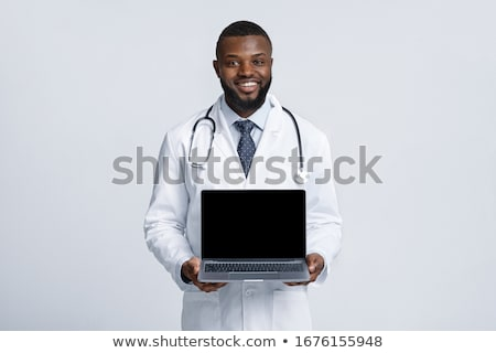 doctor holding laptop stock photo © photography33