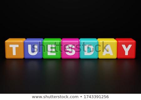 tuesday in 3d coloured cubes Stock photo © marinini