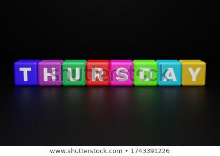 thursday in 3d coloured cubes Stock photo © marinini