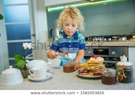 children eating pancakes stock photo © photography33