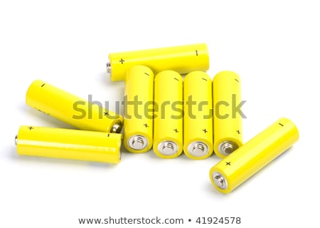 eight yellow alkaline batteries stock photo © marylooo