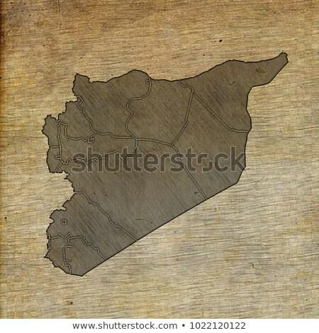 Oude groene kaart Syrië papier Stockfoto © speedfighter