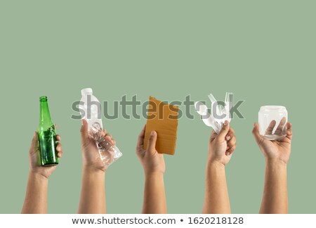 woman recycling old plastic bottles stock photo © photography33