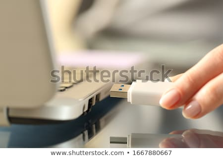 Foto stock: Usb · caneta · conduzir · memória · portátil · flash