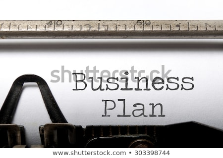 Typewriter Business Plan Stock photo © ivelin