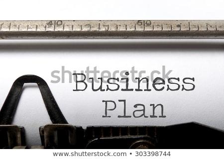 typewriter business plan stock photo © ivelin