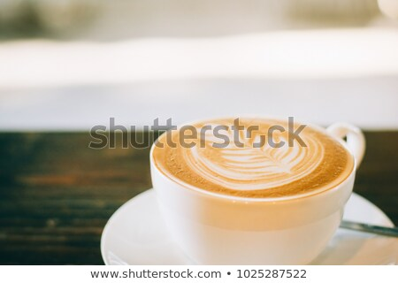 警官 豆 カップ コーヒー豆 孤立した 白 ストックフォト © compuinfoto