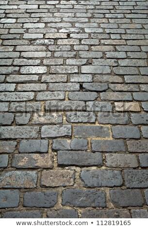 Alten London Kopfsteinpflaster Straße Hintergrund Stock foto © latent
