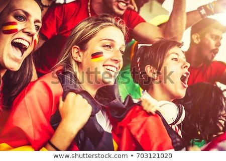 Futball mosoly arc férfi futball sport Stock fotó © photography33
