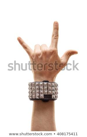 duivel · hand · tonen · heavy · metal · gebaar · geïsoleerd - stockfoto © photography33
