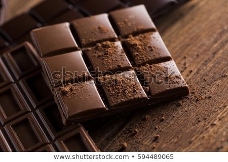 домашний темный шоколад фон белый Sweet Сток-фото © moses