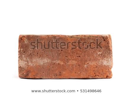 Vecchio rosso mattone isolato bianco pietra Foto d'archivio © ozaiachin