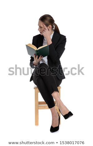 Empresária olhando assinar testa branco trabalhar Foto stock © wavebreak_media