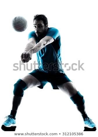 Foto stock: Vôlei · jogador · voleibol · campo · homem · pessoa