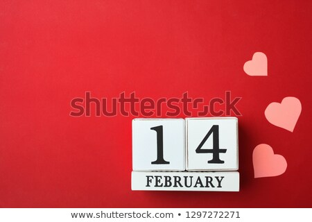 14 february calendar with hearts Stock photo © djdarkflower