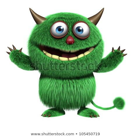 Grappig groene monster vlam cartoon duivel Stockfoto © Genestro