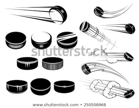 Hokej sportu wyposażenie pływające powietrza biały Zdjęcia stock © Lightsource
