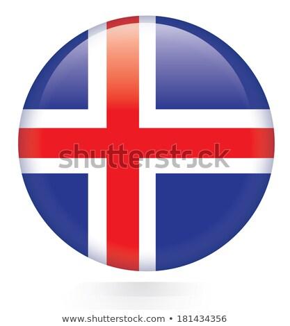 стекла · кнопки · флаг · Исландия · красный · лук - Сток-фото © maxmitzu