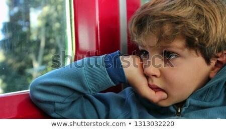 portret · zły · mały · chłopca · odizolowany - zdjęcia stock © meinzahn