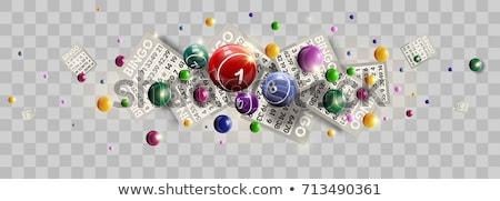 Bingo vencedor desenho animado mulher vitória jogo Foto stock © cteconsulting