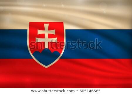 Abstract background with the Slovakia Flag Stock photo © maxmitzu