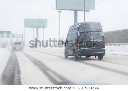Hideg kék import autó japán sportautó Stock fotó © ArenaCreative