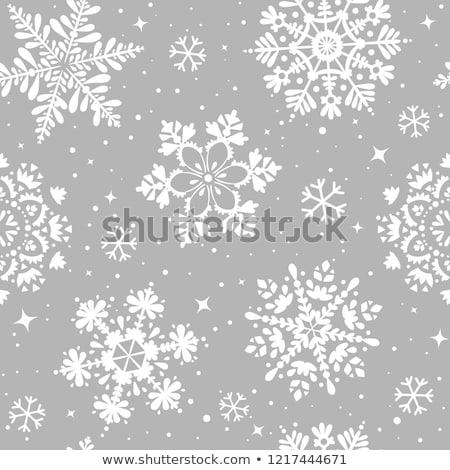 vector seamless winter pattern and snowflake design elements stock photo © alexmakarova