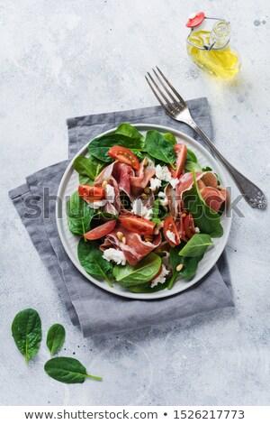 Sedir somun salata mısır mutfak restoran Stok fotoğraf © chesterf