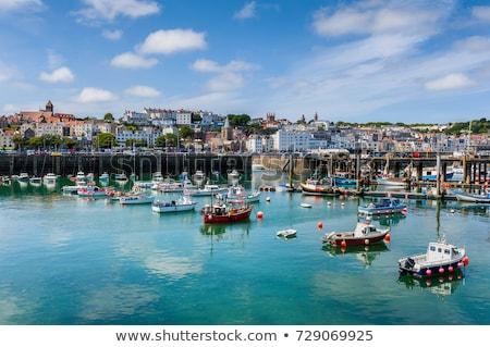 Portu kanał wygaśnięcia podróży łodzi Zdjęcia stock © ollietaylorphotograp