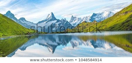 Сток-фото: озеро · альпийский · регион · воды · дерево · свет